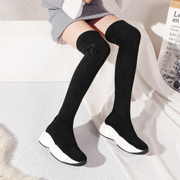boots beautiful 2019 - Autumn Beautiful Woman High Overknee Inside Winter Women Boots cheap boots beautiful