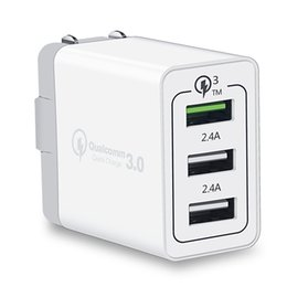 phone wall port 2019 - Quick Charge 3 Usb ports Eu US UK Ac home travel wall charger fast adaptive qc 3.0 adapter for ipad iphone 7 8 x samsung