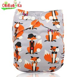 halloween baby diapers UK - Ohbabyka Reusable Cloth Diapers Newborn Baby Nappies Anti-Leak Cloth Diaper Cover with Suede Cloth One size Couche Lavable