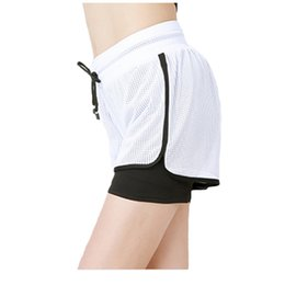$enCountryForm.capitalKeyWord NZ - 2 in 1 Woman Summer Yoga Shorts Mesh Breathable Ladie Girl Short Pants for Athletic Sport Fitness Clothes