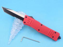 $enCountryForm.capitalKeyWord Australia - Allvin Red 616 Large Auto Tactial Knife 440C Single Edge Tanto Half Serration Black Blade Outdoor Survival Tactical Gear