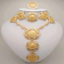 Big Sets Beads Australia - Kingdom Ma Wholesale jewelry sets African Costume Zinc Alloy Jewelry Set Nigerian Wedding African Beads Pearl big jewelry set