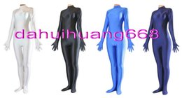 purple red full body suit UK - Unisex Body Suit Costumes Sexy 23 Color Lycra Spandex Catsuit Costumes Unisex Bodysuit Halloween Party Fancy Dress Cosplay Costumes DH007