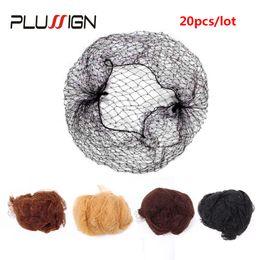 Caps hair nets online shopping - Plussign Top Nylon Net Star Dance Recital Buns Hair Extension Weaving Cap Brown Black Blonde Color