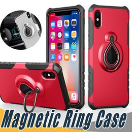 Ring se online shopping - Magnetic Ring Case Armor Hybrid Dual Layer With Kickstand On Car Holder For iPhone X S Plus S SE Galaxy S8 S8 J7