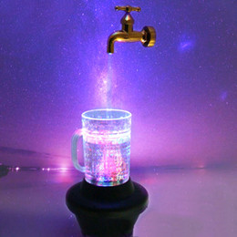 beer bar lighting 2019 - LED Luminous Suspension Magical Wine Pot Water Lamp Beer Cup Fancy Light Bar Party EU Plug Drop Shipping cheap beer bar