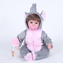 $enCountryForm.capitalKeyWord NZ - 17 Inch Realistic Baby Girl Reborn Soft Silicone Princess Babies Lifelike Doll Can Sit And Lie Kids Birthday Xmas Gift