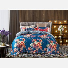 pink floral full size bedding 2019 - European Luxury Bedding Sets Bohemian Double Queen Super King Size Comforter Duvet Cover Bed Linens Pillowcase Floral Pa