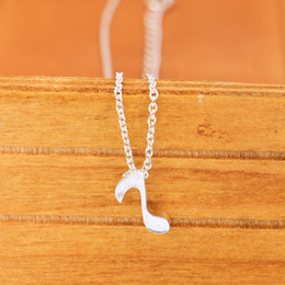 Discount personal pendants - Fashion Delicate Creative Musical Note Pendant Necklaces Personal Handmade Women Love Symbol Necklaces
