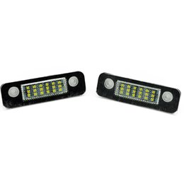 ford fiesta lamp NZ - 2pcs For Ford Mondeo MK2 Fiesta Fusion 12V Car License Plate Light SMD 3528 White Lights 18 LEDs Lamp External Replace Bulb