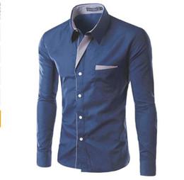 Shirt Korean Designs Australia - free shipping Long Sleeve Shirt Men Korean Slim Design Formal Casual Male Dress Shirt Size M-4XL