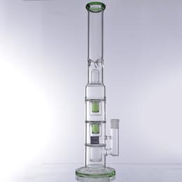 20 polegada De Vidro bongos grande verde reciclador copo de água de fumar reta tubo de petróleo plataformas de água bong bong alto tubulações de água narguilé venda por atacado