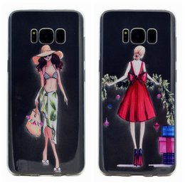 Iphone sIlIcone art cases online shopping - For Samsung Galaxy S8 Plus A3 A5 Ultra Thin Clear Art Patterns Crystal TPU Rubber Flexible Slim Case For iPhone Plus