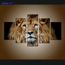 $enCountryForm.capitalKeyWord Canada - Large Wall Art Contemporary Arrival Roaring Lion Pictures Printing on Canvas Hot Sale Modern Art Painting for Living Room Modern Home Decor