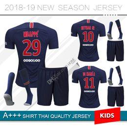 jersey paris 2019 - 2018 2019 Paris kids kit soccer Jerseys 18 19 neymar jr  mbappe 8160448a2