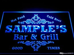 custom home bar signs 2019 - DZ058-b Name Personalized Custom Family Bar & Grill Beer Home Gift Neon Sign