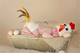$enCountryForm.capitalKeyWord NZ - Crochet Chicken Hat Butt Cover Set Knitted Infant Baby Chicken Outfits Newborn BABY Photo Photography Props