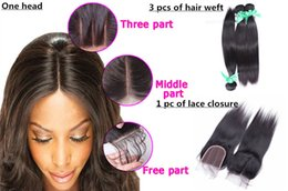 $enCountryForm.capitalKeyWord NZ - Elibess Hair Straight Weave Brazilian Virgin Hair 3 Bundles with Lace Closure Natural Color Hair Weft 100g Bundle
