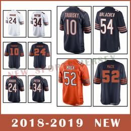 Chicago Bears Football Jersey 52 khalil mack jersey 10 Mitchell Trubisky 54  Brian Urlacher 34 Walter Payton 2018-2019 NEW jersey 2fbc435ef