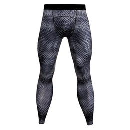 men compression running tights pants Canada - Toppick Snakeskin Compression Pants Men 3D Print Running Tights Men Fitness Sport Leggings Gym Jogging Trousers Sportswear
