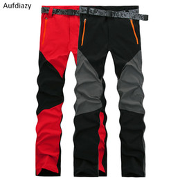 91e37bfe5332 Aufdiazy Women Summer Stretch Waterproof Hiking Pants Quick Dry Red Female  Trekking Fishing Camping Trousers Outdoor Pants JW020 C18111401