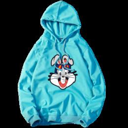 Cartoon Rabbit Hoodies Australia - 2018 Spring New Men's Casual Hooded Pullover   Man's cartoon rabbit print hoodie sweatshirts coat