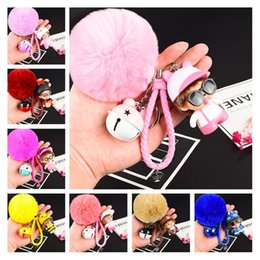 cool cartoon boys Canada - Wholesale Promotional Cool Keychains For Women 38 Styles Creative Cartoon Doll Car Bag Keychain Charms Accessories With Double Colors Bell