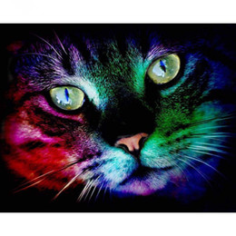 $enCountryForm.capitalKeyWord Canada - Color Cat 5D DIY Mosaic Needlework Diamond Painting Embroidery Cross Stitch Craft Kit Wall Home Hanging Decor