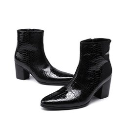 $enCountryForm.capitalKeyWord Canada - mens patent leather boots black pointed toe rubber sole british style business short ankle boots shoes male 2018