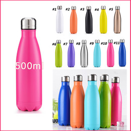 cold steel water bottle Australia - Vacuum Insulated Water Bottle Leak Proof Double Wall Stainless Steel Bottle Cola Travel Bottle Keeps Hot & Cold