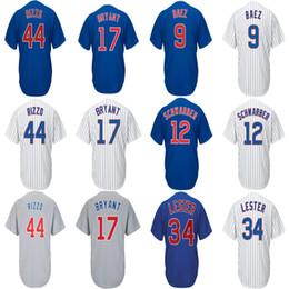 Venta al por mayor de Equipo caliente Jesey # 9 Javier Baez # 12 Kyle Schwarber # 12 Kyle Schwarber Baseball Cool Flex Jerseys base