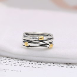73ad826ae Charm Ring Size Marked Many Layer With Gold Plated Solid 925 Sterling Silver  European Style Jewelry Findings For Pandora