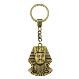 egypt figures NZ - 6 Pieces Key Chain Women Key Rings Fashion Keychains For Men Egypt Queen Cleopatra 37x26mm