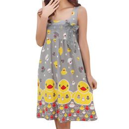 f61b37f52f Summer Nightdress Sexy Cute Cartoon Duck Print Lace Sleepwear Home Clothing  Nightgown for Women Spaghetti Strap Wholesale