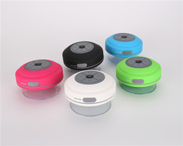 $enCountryForm.capitalKeyWord Australia - Portable Waterproof Wireless Bluetooth Speaker Shower Car Handsfree Receive Call Mini Subwoofer Suction Phone IPX4 Speakers 6 Color BTS-06