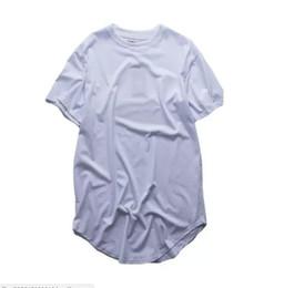 $enCountryForm.capitalKeyWord UK - men's T Shirt Kanye West Extended T-Shirt Men's clothing Curved Hem Long line Tops Tees Hip Hop Urban Blank Justin Bieber Shirts