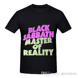 Wholesale Black Sabbath Master Of Reality Hits Men O Neck Music ShirtsGood Quality Brand Cotton Shirt Summer Style Cool Shirts