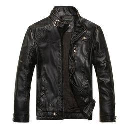 Mens Parka Leather Australia - New Brand motorcycle leather jackets men ,men's leather jacket, jaqueta de couro masculina,mens jackets Parka XXXL