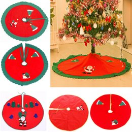 Santa decorated chriStmaS treeS online shopping - Red Christmas Tree SKirt Decoration For Santa Decals Snowman Decorations Ornaments Decorated Packages Neccessary cm WX9