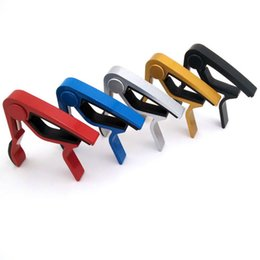 acoustic guitar tuner keys 2018 - Accessories Aluminum Alloy Guitar Tuner Clamp Professional Key Trigger Capo for Acoustic Electric Musical Instruments Wh