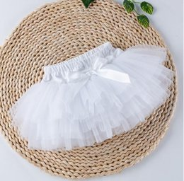 infant underwear NZ - Lovely Baby Ruffles Chiffon Bloomer Tutu Infant Toddler Cotton Silk Bow Skirt Shorts Kids Layers Skirt Diaper Cover Underwear PP Shorts