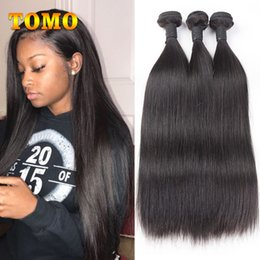 $enCountryForm.capitalKeyWord NZ - TOMO Malaysian Straight Hair Extensions 8-26 Inch Natural Color Virgin Human Hair Weave Bundles 100% Remy Hair Weave For Black White Woman