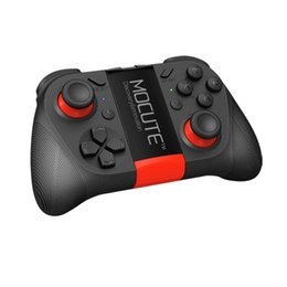 games controllers 2018 - Original MOCUTE 050 Wireless Bluetooth Gamepad PC Game Controller for Smartphone TV Box With Built-in Foldable Holder Wi