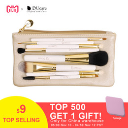 $enCountryForm.capitalKeyWord Canada - DUcare Professional Makeup Brush Set 8pcs High Quality Makeup Tools Kit with bag super nice beauty essential brush set D18110902