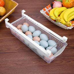 Garage Tool Hangers NZ - Free shipping New Fridge Mate Refrigerator Pull Out Bin Home Organizer Drawer Space Saving Organizer Egg Storage Box