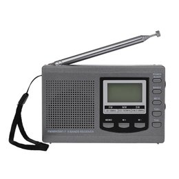 Wholesale MINI FM Radio FM AM SW Multiband Digital Stereo Radio Receiver Earphone Output Time Display Alarm Clock Mini