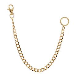 16e0efe517 Catena da cintura lunga 38 centimetri Catena Rock Punk Catena chiave in  metallo Oro argento Portachiavi Mens Gioielli HipHop