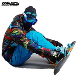 32dc1939ab Winter Ski Clothing Brands Australia - GSOU SNOW Brand Ski Suit Men Ski  Jackets Pants Snowboard