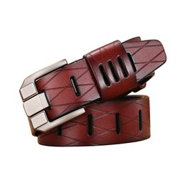 6c4b893d532d7 Men Color Leather Pants UK - 6PCS LOT SINGYOU Vintage Belt Men Genuine  Leather Business Waist