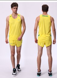 Running Game S Canada - men tracksuits men Fast Speed Track and Field games sets adult sports Running suits male athletic garment Training uniforms